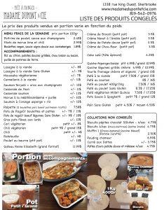 Liste produits Madame Dupont et Cie