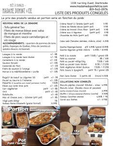 liste produits Madame Dupont 01-06-2020