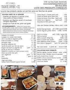 liste-produits Madame Dupont2