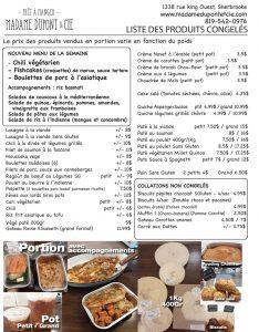liste produits Madame Dupont 13-07-2020