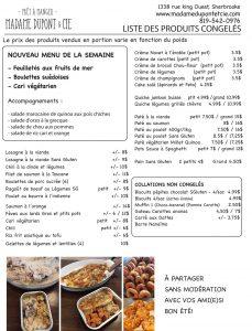 liste produits Madame Dupont 24-08-2020