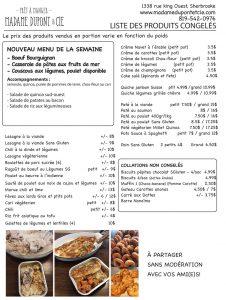 liste produits Madame Dupont 21-9-2020