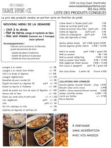 liste- produits Madame Dupont 28-9-2020