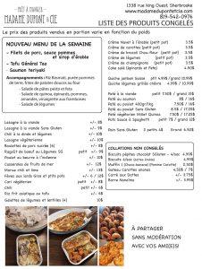 liste produits Madame Dupont 05-9-2020