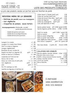 liste produits Madame Dupont 13-10-2020