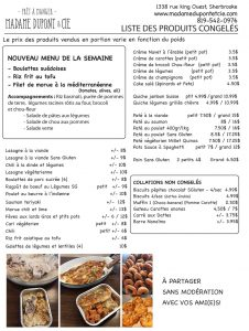 liste produits Madame Dupont 19-10-2020