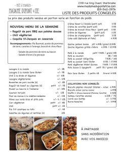 liste produits Madame Dupont 26-10-2020