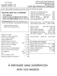 liste repas produits Madame Dupont 30-11-2020