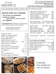 liste produits Madame Dupont 9-11-2020